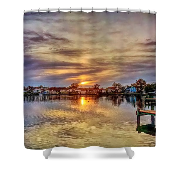 Sunset Creek Shower Curtain