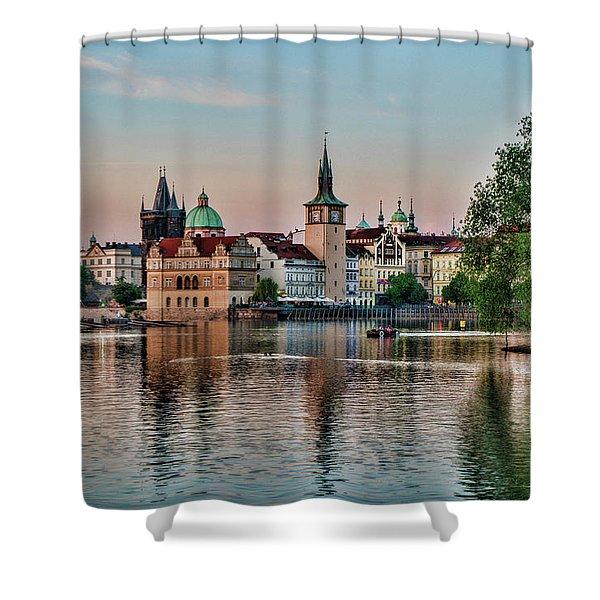 Sunset Cruise Prague Shower Curtain