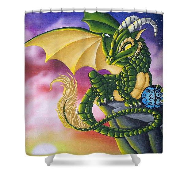 Sunset Dragon Shower Curtain