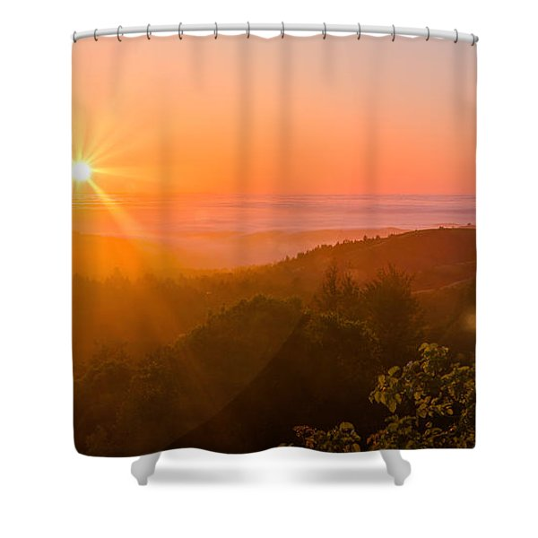 Sunset Fog Over The Pacific #1 Shower Curtain