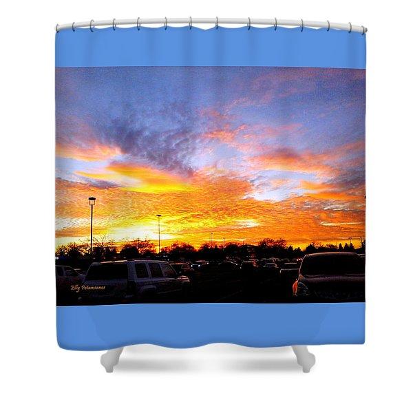 Sunset Forecast Shower Curtain