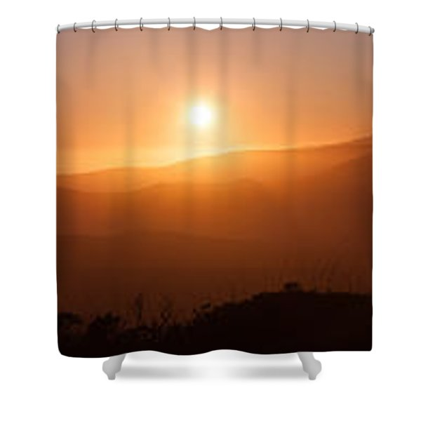 Sunset From Marine Headlands San Francisco Shower Curtain