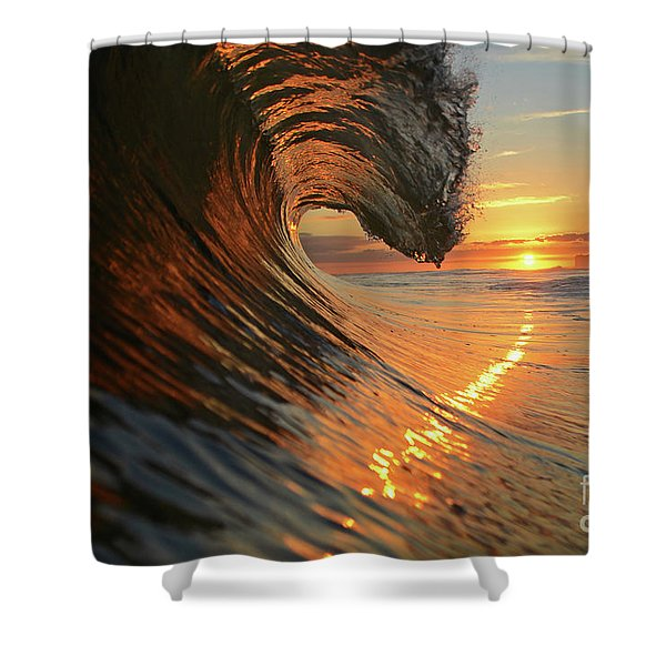 Sunset From Sea Shower Curtain