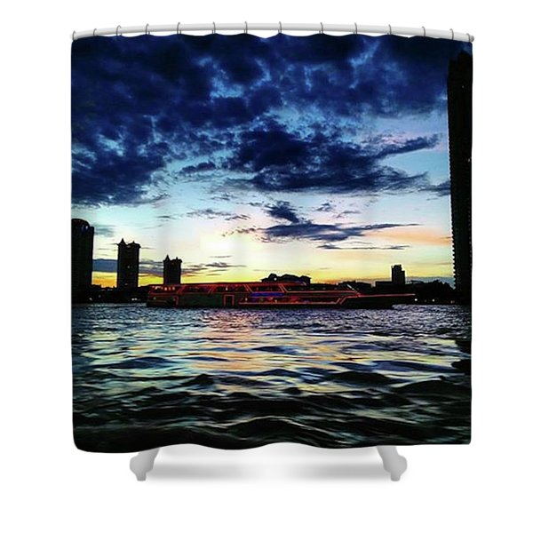 Sunset From The Boat On The Way To Shower Curtain