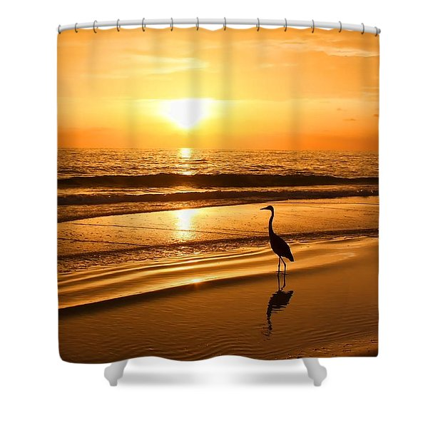 Sunset Gold Shower Curtain