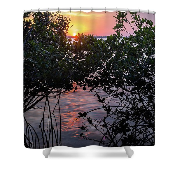 Sunset, Hutchinson Island, Florida  -29188-29191 Shower Curtain