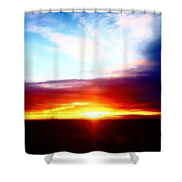 Spring Horizon  Shower Curtain