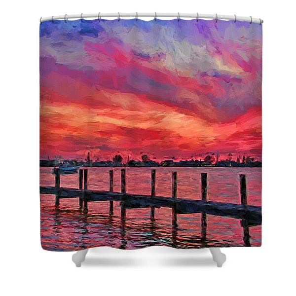 Sunset Impressionism Shower Curtain