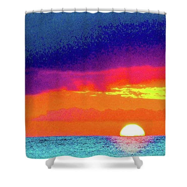 Sunset In Abstract  Shower Curtain