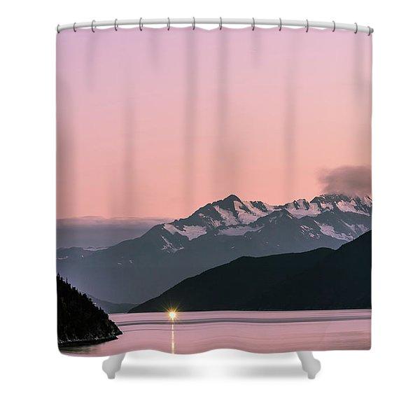 Sunset In Alaska Shower Curtain