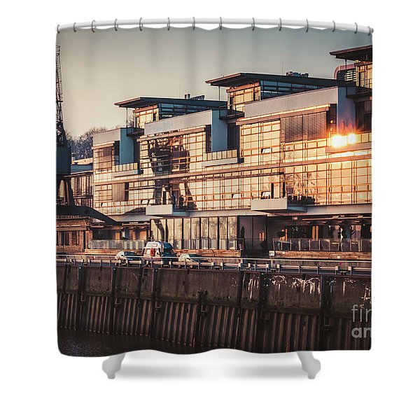 Sunset In Altona Hamburg Shower Curtain