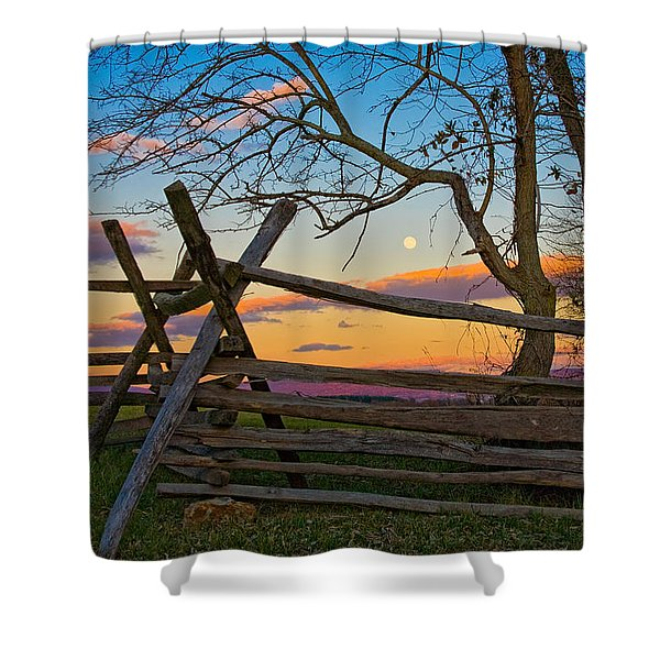 Sunset In Antietam Shower Curtain