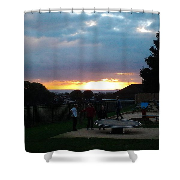 Sunset In Brighton Shower Curtain