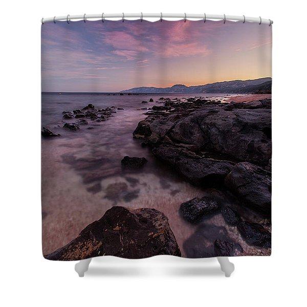 Sunset In Cala Gonone Shower Curtain