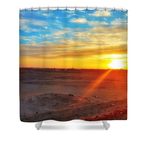 Sunset In Egypt Shower Curtain