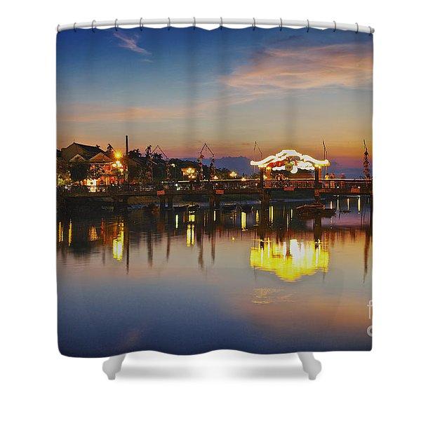 Sunset In Hoi An Vietnam Southeast Asia Shower Curtain