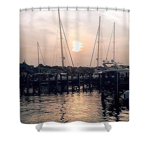 Sunset In Nantucket Shower Curtain