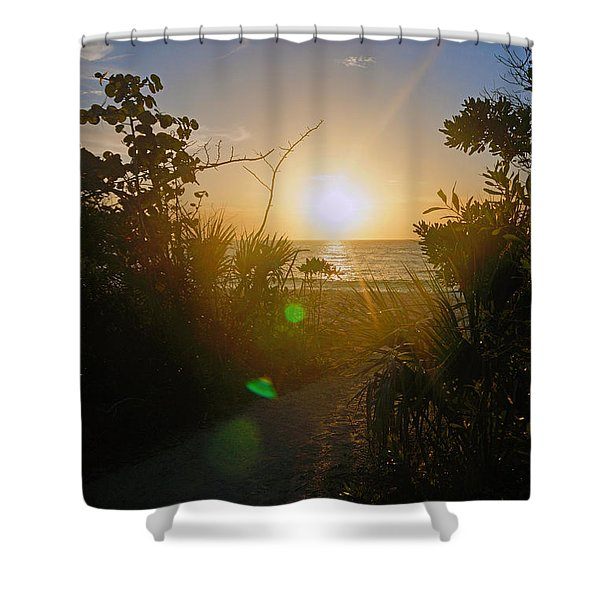 Sunset In Naples At Barefoot Beach Shower Curtain