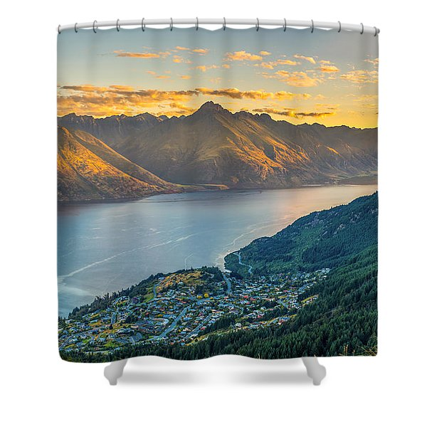 Sunset In New Zealand Shower Curtain