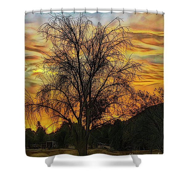 Sunset In Perris Shower Curtain