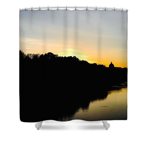 Sunset In Rome Shower Curtain