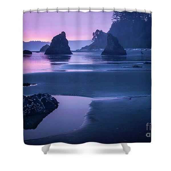 Sunset In Ruby Beach Shower Curtain