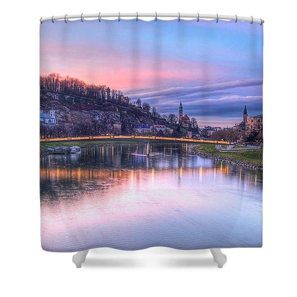 Sunset In Saltzburg Shower Curtain