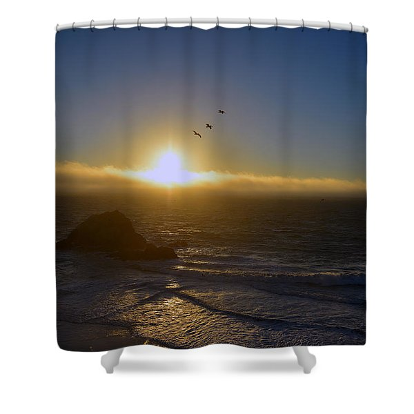 Sunset In San Francisco Shower Curtain