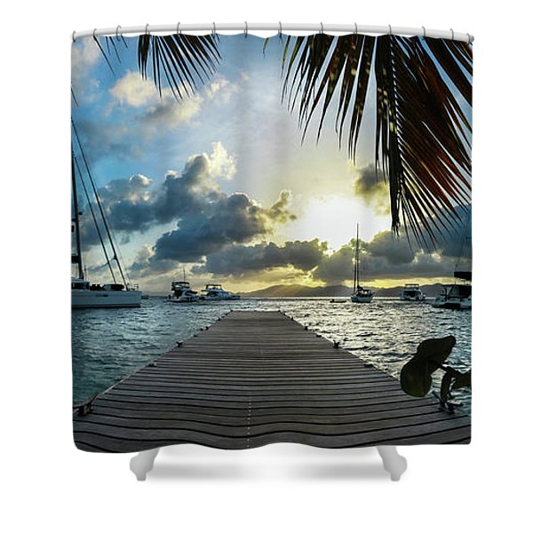Sunset In The Bvi Shower Curtain