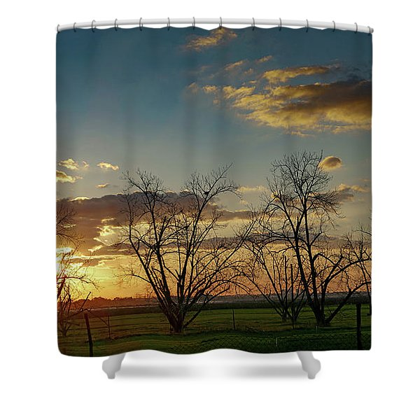 Sunset In The Fields Of Binyamina Shower Curtain