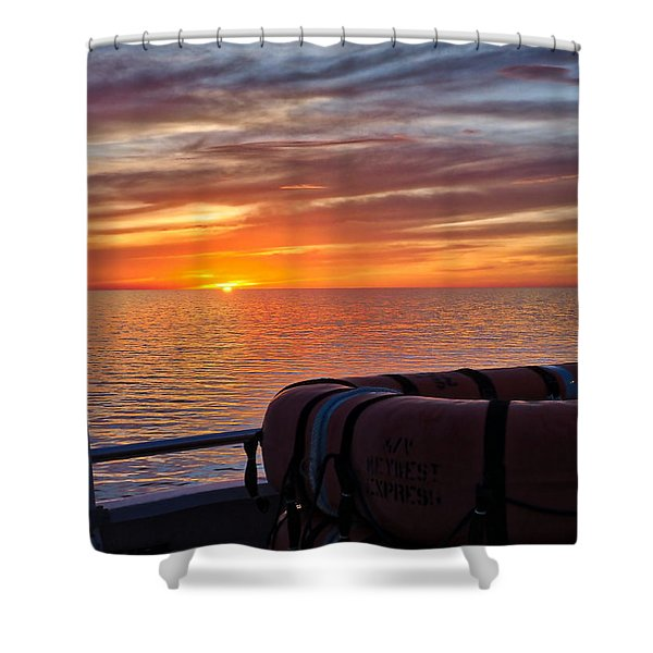 Sunset In The Gulf Shower Curtain
