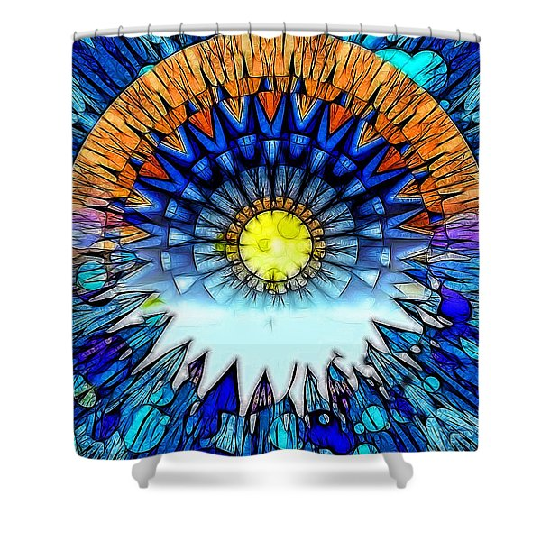 Sunset In The Mind's Eye Shower Curtain