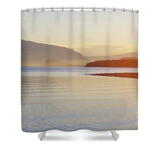 Sunset In The Mist Shower Curtain