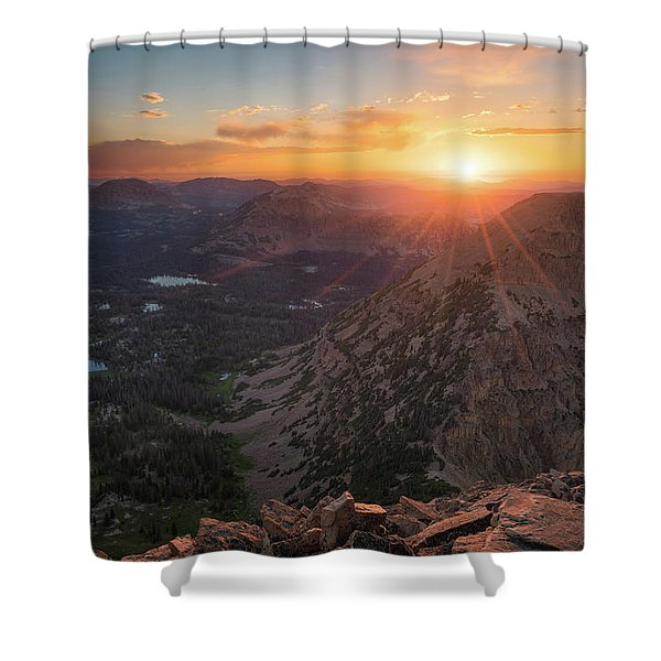 Sunset In The Uinta Mountains Shower Curtain