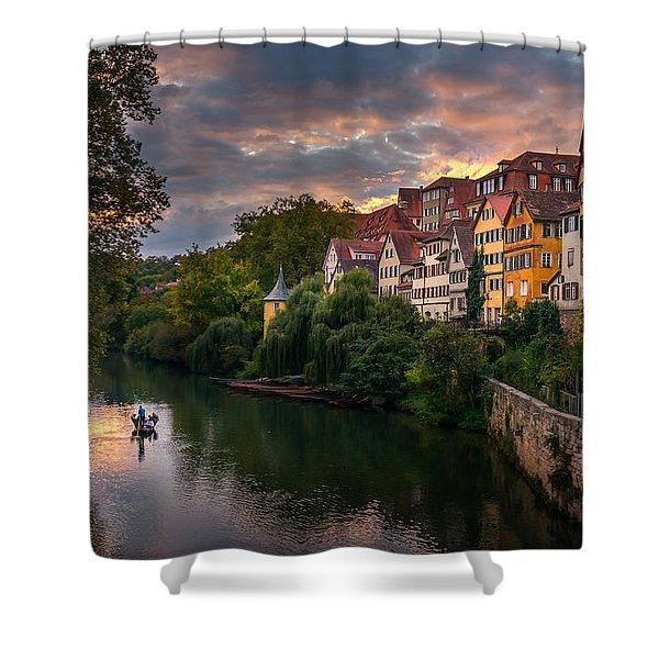 Sunset In Tubingen Shower Curtain