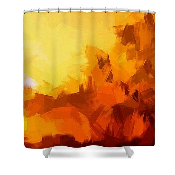 Sunset In Valhalla Shower Curtain