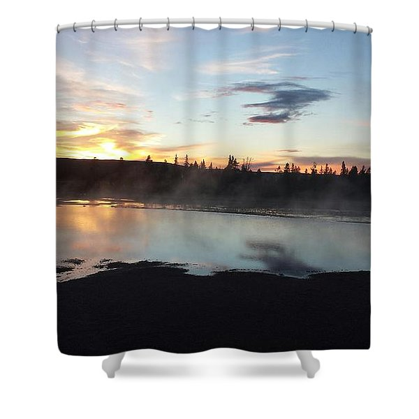Sunset In Yellowstone Shower Curtain