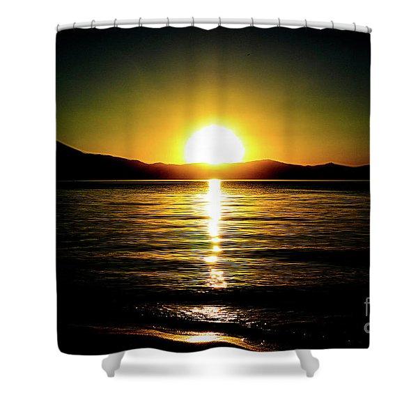 Sunset Lake 2 Shower Curtain