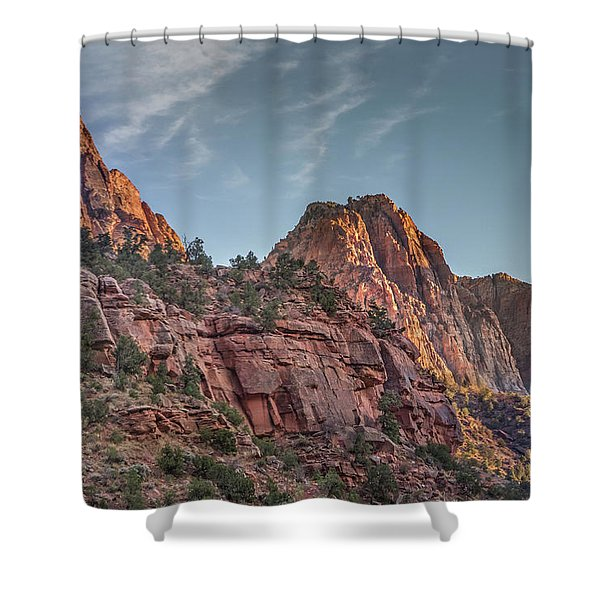 Sunset Lighting At Zion Shower Curtain