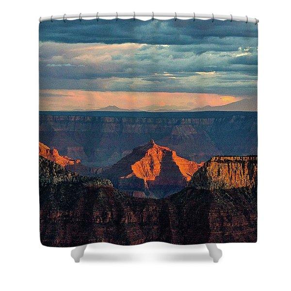 Sunset Lights Angels Gate Shower Curtain