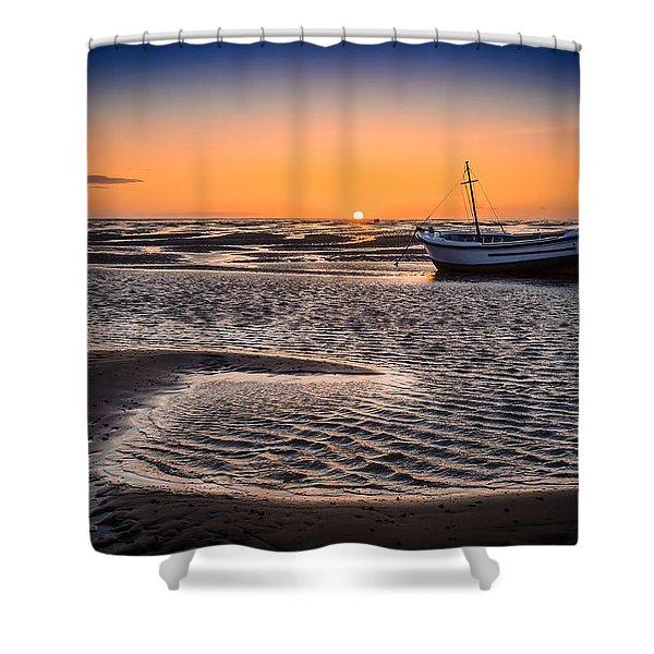 Sunset, Meols Beach Shower Curtain