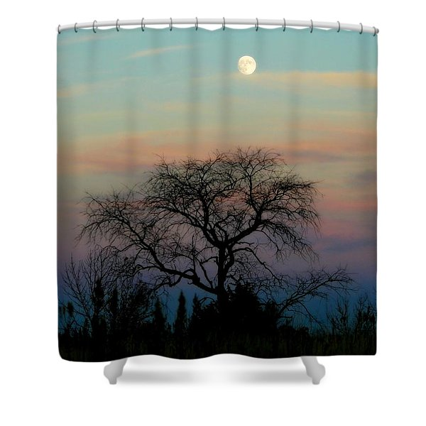 Sunset Moon Shower Curtain