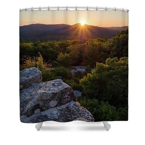 Sunset, Mt. Battie, Camden, Maine 33788-33791 Shower Curtain