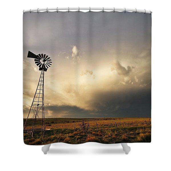 Sunset Near Santa Rosa New Mexico Shower Curtain