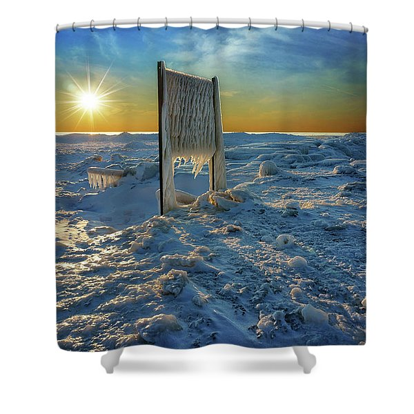 Sunset Of Frozen Dreams Shower Curtain