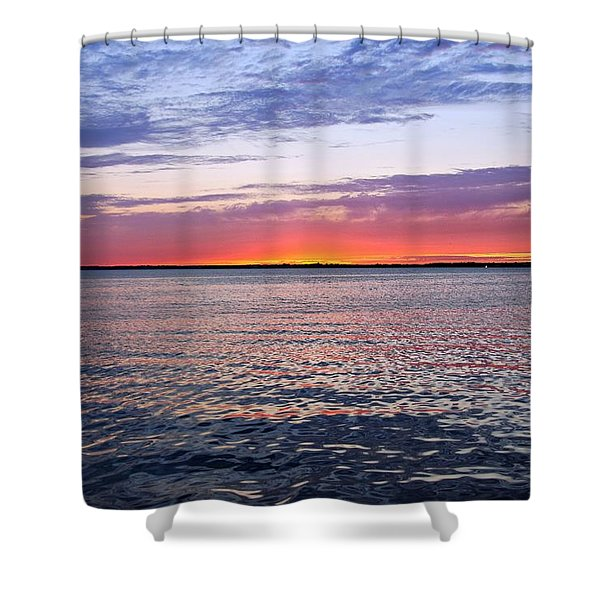 Sunset On Barnegat Bay I - Jersey Shore Shower Curtain