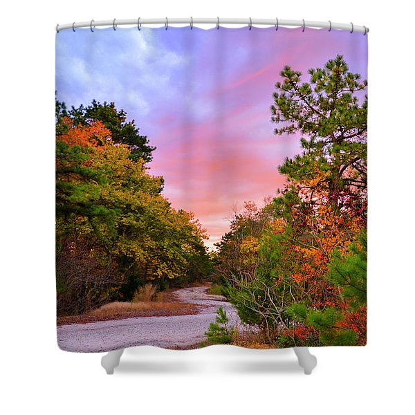Sunset On Bombing Run Road Shower Curtain
