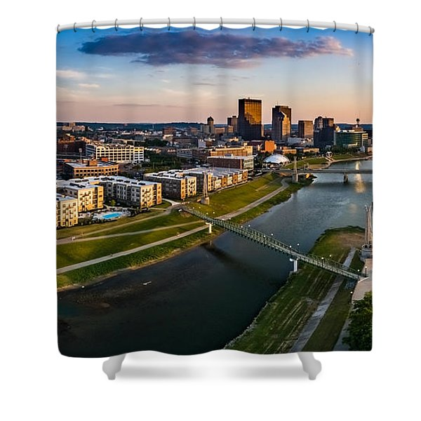 Sunset On Dayton Shower Curtain