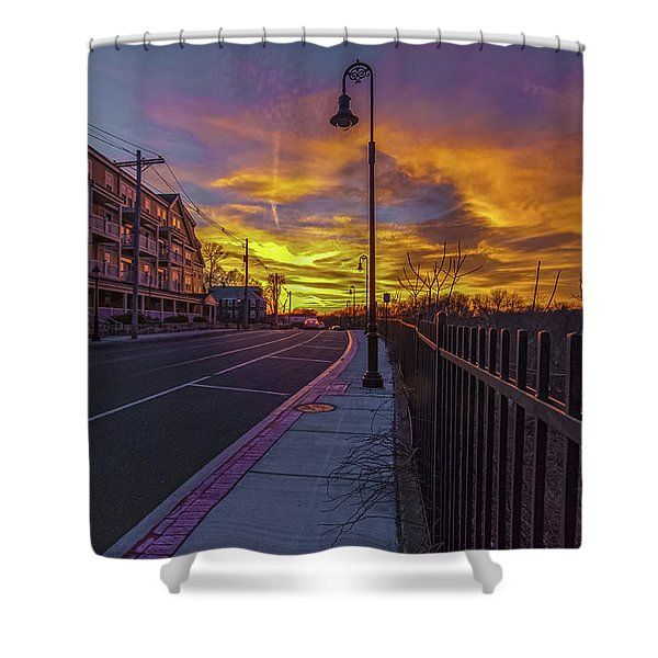 Sunset On Eliot St Milton Ma Shower Curtain