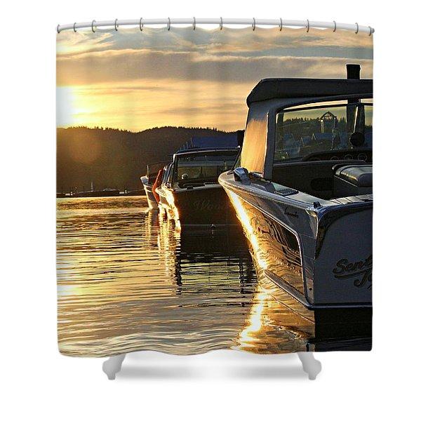 Sunset On Lake Coeur D'alene Shower Curtain